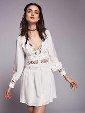NWT Free People I Think I Love You Keyhole Dress in Ivory 10 Retail $128.00