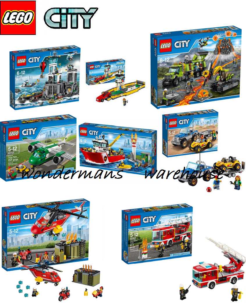 Lego City Sets - Police/Fire/Plane/Ferry/Volcano & MORE -Brand New & Boxed