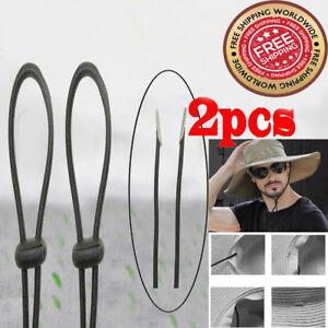 TWO Hat Chin Strap Cord   Mens Cowboy Hat Chinstrap   Toggle ... 33e03b7a699
