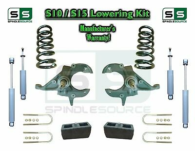 """82-05 Chevy S-10 GMC S-15 Sonoma Blazer Jimmy 3/"""" Lift Spindles EXT BRAKE LINES"""