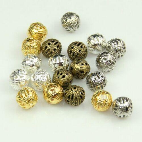 quantité et Couleur au choix Perles Rond Metal Charms Taille creation bijoux