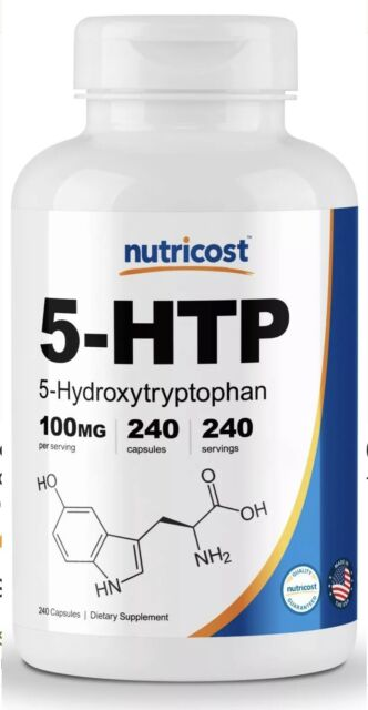 Nutricost 5-HTP 100mg, 240 Capsules (5-Hydroxytryptophan)