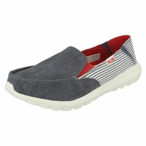 Hey Dude 'Ava' Ladies bluee White Stripe Slip On Lightweight Canvas shoes