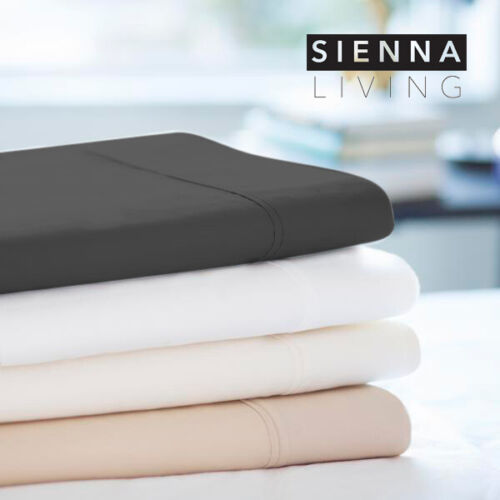 Sienna Living 1000TC Thread Count American Pima Cotton Sheet Set Queen Charcoal