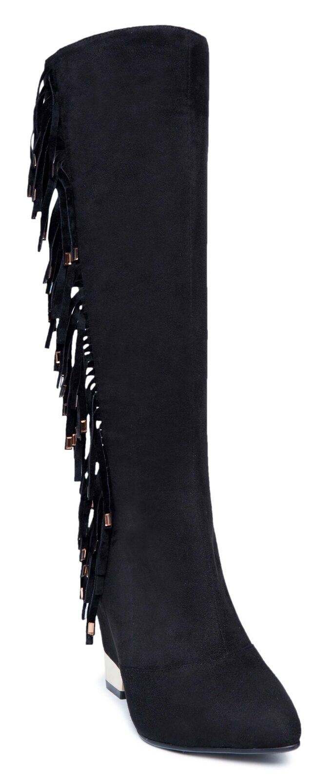Ann Creek Wouomo 'Jules' Fringe and Plated Heel stivali