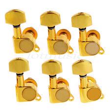 Gold Inline Guitar String Tuning Peg Machine Head 6R Tuner Pegs