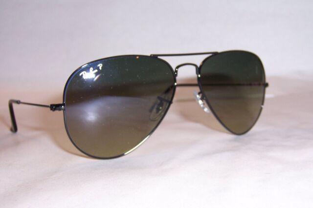 dd58b03ff5 Ray Ban Sunglasses Authentic RB 3025 002 76 Aviator Black Polarized ...