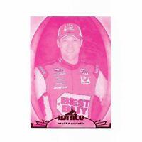 2012 MATT KENSETH - PRESS PASS IGNITE PROOFS MAGENTA PARALLEL INSERT CARD # 20