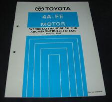 Werkstatthandbuch 4A-FE Motor Toyota Corolla Abgaskontrollsystem Stand 02/1992!