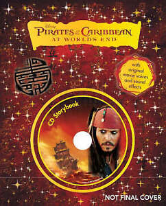 Disney-034-Pirates-of-the-Caribbean-At-Worlds-End-034-Storybook-Book-amp-CD-Very-G