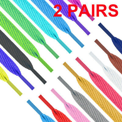 New Shoelaces Colorful Flat Round Bootlace Sneaker Shoe Strings Shoe Laces 120cm