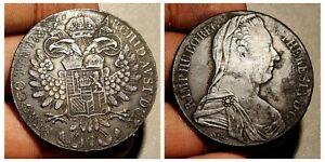 Thaler-Austria-1780-Habsburg-Silver-Coin-Maria-Theresia-Vrty-Milan-Vanice-1815