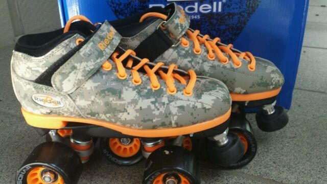 New Riedell R3 Digital Camo Roller Derby Speed Skates Camo Size 5 FREE SHIPPING!