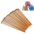 36pcs 18size 14'' 25cm Smooth Carbonized Bamboo Single Pointed Knitting Needles