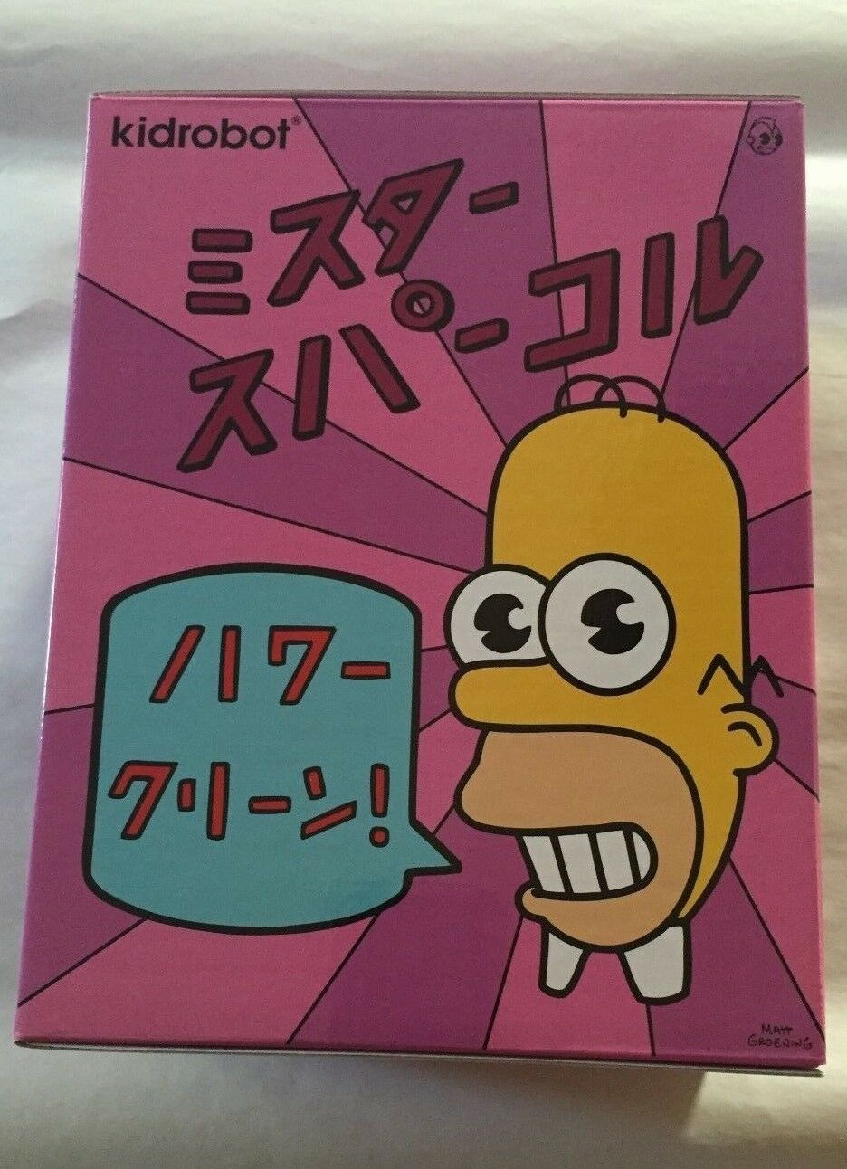 SDCC 2017 EXCLUSIVE KIDROBOT THE SIMPSONS MR. SPARKLE HOMER FIGURE PINK SOLD OUT