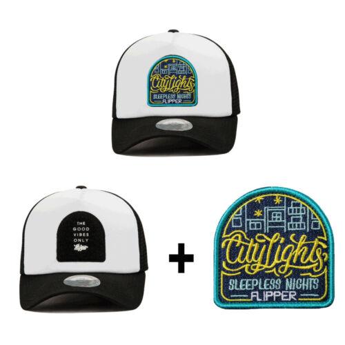 XL~2XL 60~63Cm Mens Detachable Velcroed Patch Mesh Baseball Cap Trucker Hats