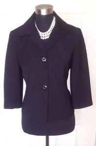 Ann Casual S 139 Taylor Dress Kvinders Sort Ny Suit Sz Loft 6 Jakke Textured Z6PxwqBvd