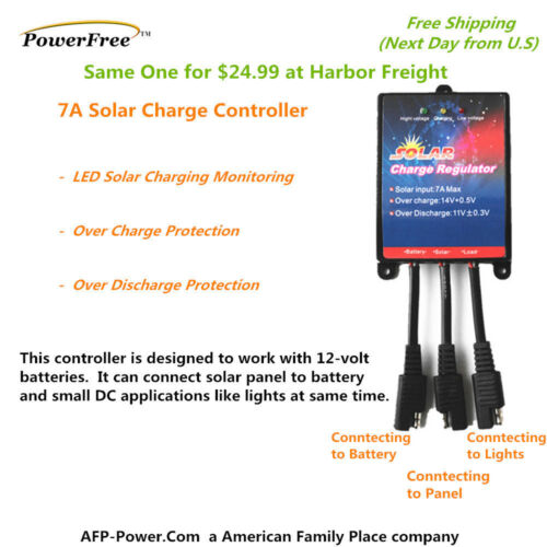 COMPLETE KIT Plug-n-Power BLACK 10W 10 Watt Mono Solar Panel 12v Battery Global