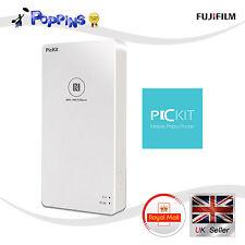 New Fujifilm PicKit Mobile Smart Phone Photo Printer White for iOS Android White