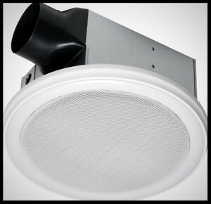 Bathroom Ceiling Exhaust Fan Bluetooth Stereo Speaker LED ...