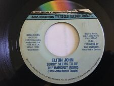 "Elton John - Sorry Seems To Be The Hardest Word / Shoulder Holster 7"" 45 RPM"