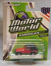 Greenlight Motor World 1992 Jeep Wrangler - American Edition - Series 16