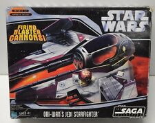 Obi Wan's Jedi Starfighter Spaceship Star Wars ROTS Hasbro vehicle toy complete