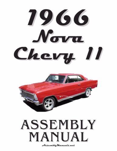1966 Nova Chevy II Assembly Manual 66
