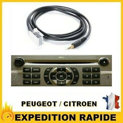 CABLE AUXILIAIRE MP3 CITROEN PICASSO AUTORADIO RD4 NEUF