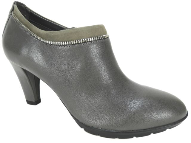 992e038a415 Anne Klein Women's Dalayne Ankle Shooties Pencil Gray Leather Size 9.5 M