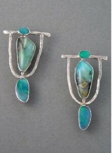 Lady-925-Silver-Turquoise-Hoop-Dangle-Earrings-Wedding-Birthday-Fashion-Gift