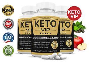 Keto VIP Keto Pills Boost Weight Loss Diet Pills BHB Ketogenic Supplement 3 Pack