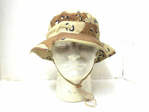 NEW UNISSUED GENUINE USGI 6 COLOR CHOC. CHIP DESERT STORM BOONIE HAT ... 9bddcdb321e