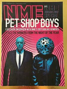NME MAGAZINE PET SHOP BOYS Feb 2017 UK Kasabian Blossems Nick Cave