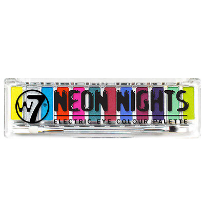 W7 Cosmetics - Neon Nights Electric Eye Colour Palette 12 Bright Colours Set Kit