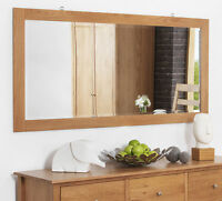 Edward Hopper Large Oak Wall Mirror, Quality 140x70cm Beveled Mirror, Bargain