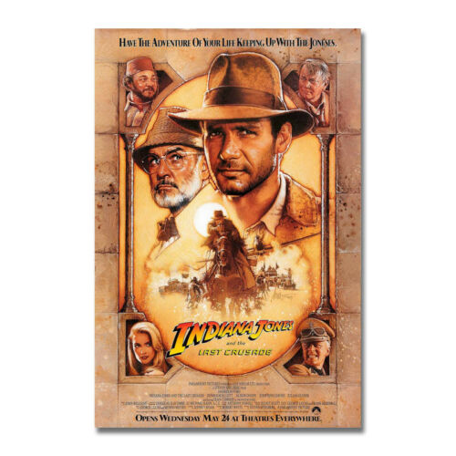 Indiana Jones Hot Movie Art Canvas Poster Print 12x18 24x36 inch