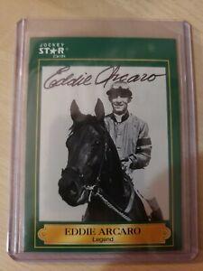 Eddie Arcaro, Autographed 1991 Jockey Star Card #8 (VG