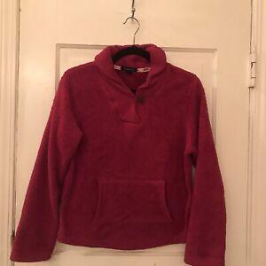 Lands End Sweater Dark Pink Girls Size XL 16