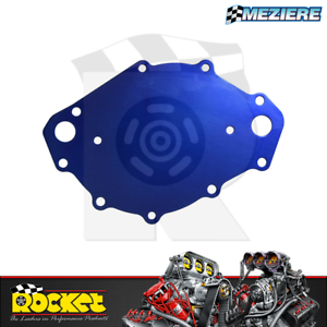 Meziere WP109B Blue Water Pump Back Plate for Big Block Ford