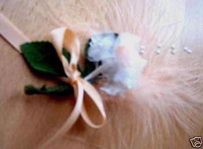 *6 Wunderschöne Hochzeitsanstecker**weiss/apricot/lachs Jade Weiß