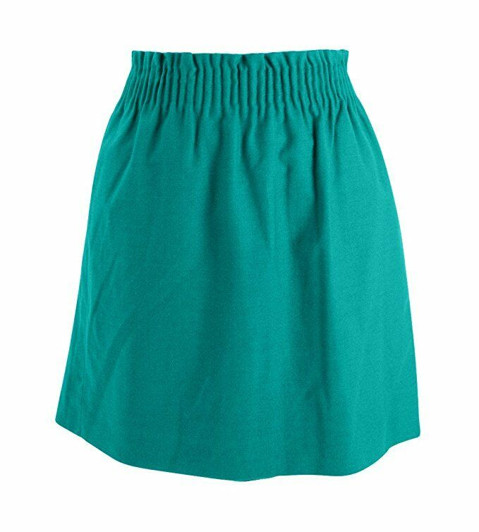 J Crew Factory Womens 6 - Tropical Turquoise Linen Cotton Sidewalk Pull-on Skirt