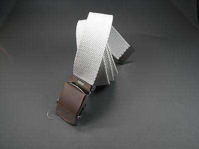 Nuovo 85cm Armygürtel In Bianco Army Cinturone Cintura Cinturone Cintura Esercito-mostra Il Titolo Originale Forma Elegante