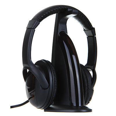 Wireless 5 in 1 Headphone Earphone HiFi FM Monitor MP3 PC TV Audio Mobile Phones