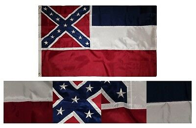 4x6 Embroidered Sewn State of Mississippi 600D Nylon Flag 4/'x6/' Heavy Duty