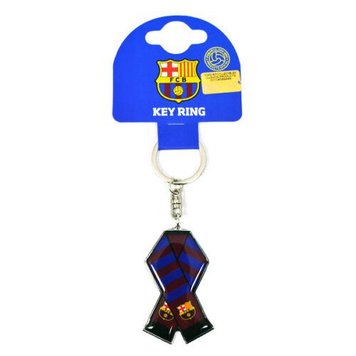 FC BARCELONA METAL BAR SCARF KEYRING KEY RINGS KEYCHAIN NEW GIFT XMAS