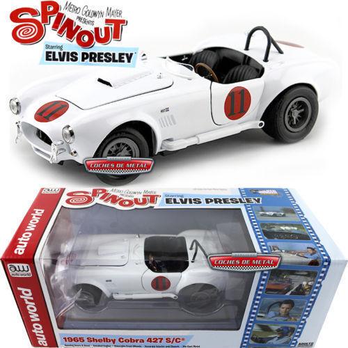1 18 Autoworld Awss104 Mgm Película Spinout Elvis Presley Shelby Cobra 427 S C C