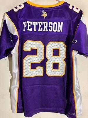 Reebok Women's NFL Jersey Minnesota Vikings Adrian Peterson Purple sz L | eBay