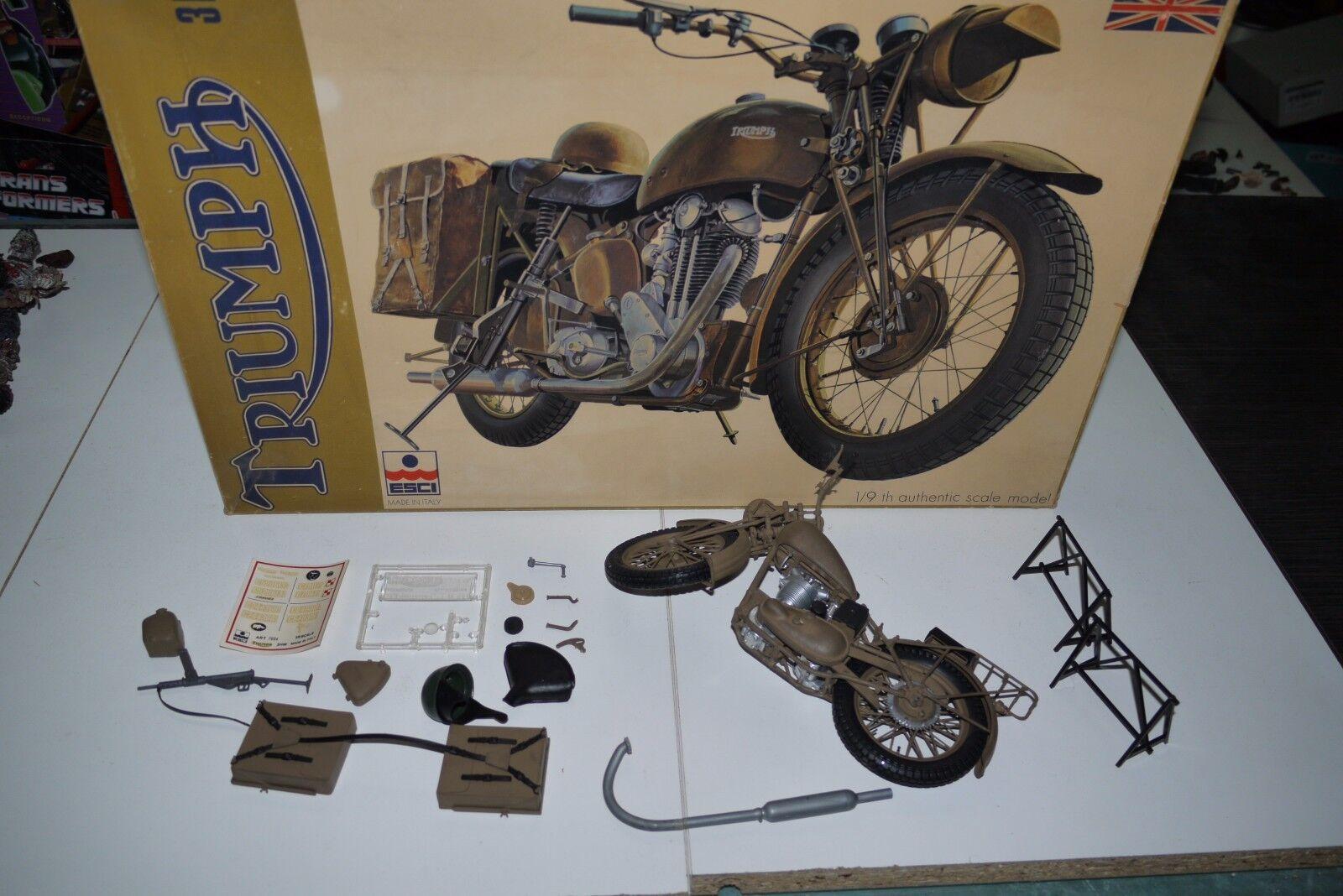 70 S årgång ESCI TRIUMPH 3 HW MOTORCYCLE modelllllerL KYL 1  9