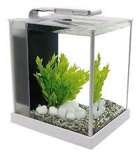 White Fluval Spec III Aquarium Kit, 2.6 Gallon Show Home Office Decoration